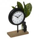 reloj de mesa 19x10x28 cuba, negro