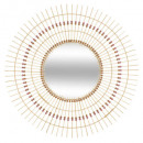 espejo de bambú perla d76 folk, beige medio