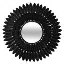 espejo de hoja de metal d63 mely, negro