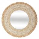 braid mirror d68 celia, medium beige