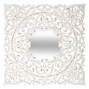 espejo tallado de mdf 58x58 fanny, blanco