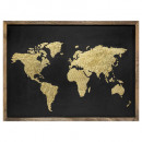 lia world hout / metaal wanddecor, zwart