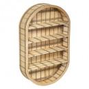 Lou bamboo wall shelf 91x56, medium beige