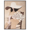 canvas print / cad woman 58x78, 4- times assorted