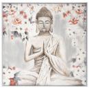 vászon festett / cad Buddha 78x78, sokszínű