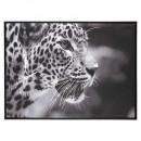 lienzo impreso / cad leopard 58x78, blanco y negro