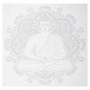 40x40-es buddha illu matrica, szürke