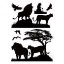 sticker illu 50x70 dieren, 4- maal geassorteerd ,