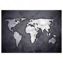 sticker illu 50x70 wereldkaart, zwart-wit