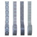 masking tape x4 house, bleu