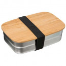 stainless steel + bamboo lunch box 0.85l