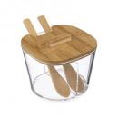 azucarero vaso + bam + cuchara lizo