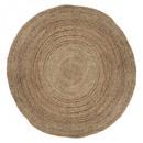 alfombra de yute natural d120, beige medio
