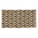 alfombra de yute estampada geom nr 70x140, multico