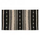 alfombra algodón delhi 90x150, blanco y negro