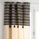 nagyker Függönyök és sötétítők: jacq delhi függöny 140x260, fekete-fehér