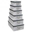 caja de esquinas de metal x6 delicado blanco y neg