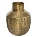 metalen vaas oasis h15, 3- maal geassorteerd , gou