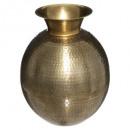 metalen vaas oasis h40, goud