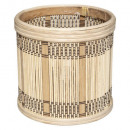 maceta de bambú nam h16, beige