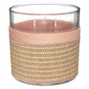 illatos gyertya üveg texti virágzik 270g, 2-szer a