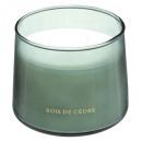 Vela perfumada cristal cedro bili 300g, verde cedr