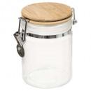 tarro de cristal + bam 0,75l blanco mc