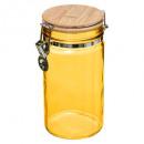 tarro de cristal + 1l bam amarillo mc, amarillo