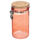 tarro de cristal + bam 1l rose mc, rose nacarat