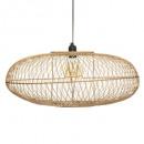 Lámpara colgante de bambú loren natural d60, beige