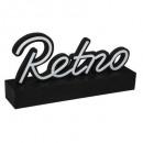 retro led deco nr l33,8, fekete