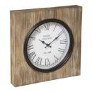 reloj de metal / mdf cuadrado 40x40, beige medio
