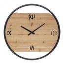 reloj de metal / madera wild d58, multicolor