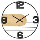 reloj de metal / madera emy d60, negro