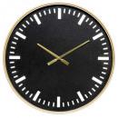 opengewerkte metalen / mdf klok d60, zwart