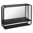 Espejo con repisa de metal 55x12x40, negro