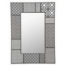 espejo de metal teeco 66x91.5, negro