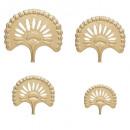 wonder metalen wanddecoratie x4, goud
