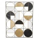 fali dekoráció fém zak 76x101,5, sokszínű