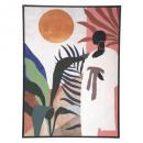 tela stampata / cad africa 58x78, multicolore