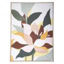 lienzo impreso / flor cad 58x78, multicolor