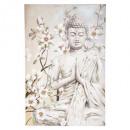 festett vászon buddha 78x118, sokszínű