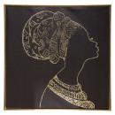 ingrosso Articoli da Regalo & Cartoleria: tela stampata / cad / foil donna 78x78, nero