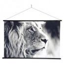 hangend canvas leeuw 73x110, zwart-wit
