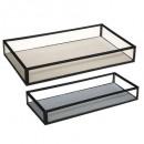 metalen glazen mind tray x2, diverse kleuren