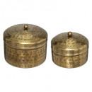 metalen doos oase x2, goud