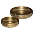 tazas de metal martillado oasis x2, dorado