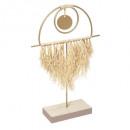 objeto decorativo rafia oasis, oro