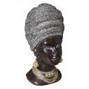 Afrikaans vrouwenhoofd h28, zwart