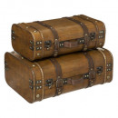 houten kantine x2, bruin